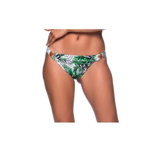 Bikinihose mit Blattmuster, Schmucksteine - BOTTOM PEDRA VIUVINHA