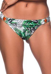 Brasiliansk bikiniunderdel med blad og grønne stein - BOTTOM PEDRA VIUVINHA