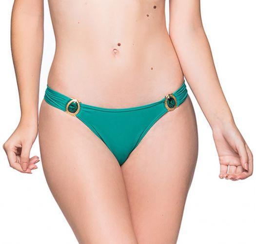 Green fixed bikini bottom with stones - BOTTOM PEDRAS ARQUIPELAGO