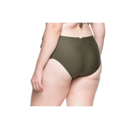 Plus-size khaki larger side bikini bottom - BOTTOM PRAIA DA LAGOA