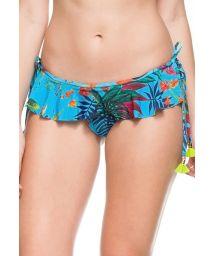 Tropical blue bikini bottom with skirt - BOTTOM PRAIAS DO CARIBE
