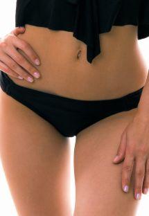 Czarne figi do bikini - BOTTOM RICO LITORAL