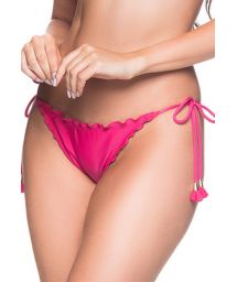 Rosa Scrunch-Bikinihose mit Pompons - BOTTOM RIPPLE TROPICALIA
