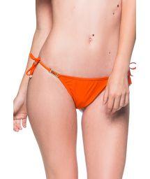 Accessorized orange scrunch bikini bottom - BOTTOM ROLOTE POR DE SOL