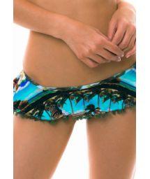Brasiliansk bikiniunderdel med kjol - Kuba-tryck - BOTTOM SANTO DOMINGO