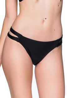 Black Brazilian bikini bottom double side - BOTTOM TIRAS PRETO