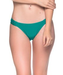 Grüne Bikinihose mit plissierten Seiten - BOTTOM TURBINADA ARQUIPELAGO