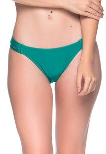 Green side-pleated bikini bottom - BOTTOM TURBINADA ARQUIPELAGO