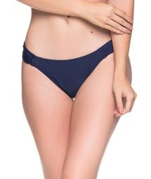 Navy blue side-pleated bikini bottom - BOTTOM TURBINADA MIRAMAR