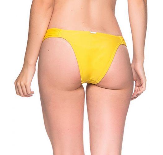 Gelbe Bikinihose mit plissierten Seiten - BOTTOM TURBINADA PAELLA