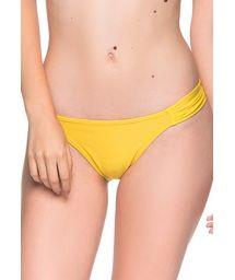 Yellow side-pleated bikini bottom - BOTTOM TURBINADA PAELLA
