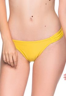 Yellow side-pleated bikini bottom - BOTTOM TURBINADA PAELLA