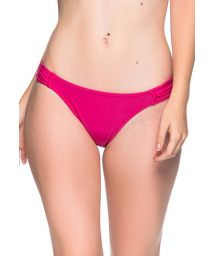 Pink bikini bottom pleated sides - BOTTOM TURBINADA TROPICALIA