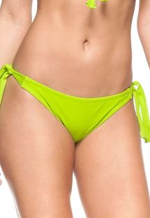 Side tie lime green Brazilian bikini bottom - BOTTOM ZANZIBAR