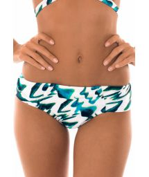Blue two-tone bikini with wide side hipster bottom - CALCINHA ABSTRATO CRUSADO