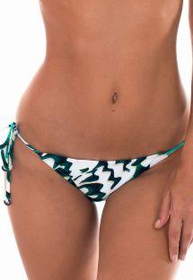Brasiliansk bikinitrusse med tofarvet mønster - CALCINHA ABSTRATO MINI