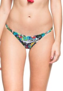 Multicoloured Cuba-print adjustable tanga - CALCINHA AGUAS PURAS