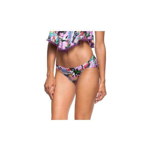 Figi do bikini z kolorowym motywem Kuby - CALCINHA AREIA FINA