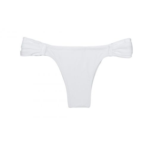 White low cut tanga, identical cut front/back - CALCINHA ESSENCIAL WHITE