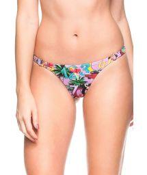 Pink Cuba print tanga with elasticated sides - CALCINHA FLOR DE MEL