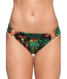 Tropical Brazilian bottoms with orange-coloured stones - CALCINHA LAGO DAS PEDRAS