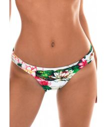 Water lily print bikini bottom - CALCINHA LOTUS CARIBBEAN