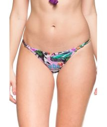 Pink Cuba print adjustable Brazilian bottom - CALCINHA MIL FLORES