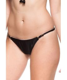 Black adjustable swimsuit thong with narrow sides - CALCINHA PETUNIA NEGRA