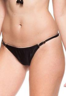 Sorte justerbare bikinitrusser med g-streng og tynde sidestykker - CALCINHA PETUNIA NEGRA