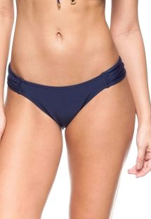 Navy blue Brazilian bottoms with pleated sides - CALCINHA SOL DAS ANTILHAS