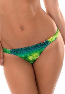 Feste Mikro-Bikinihose mit Tropenprint - CALCINHA TERRA AMAZONIA FIO