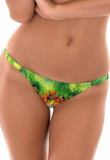Tropical Brazilian bikini bottoms with adjustable sides - CALCINHA TERRA BABADINO