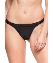 Black fixed swimsuit thong - CALCINHA TULIPA NEGRA