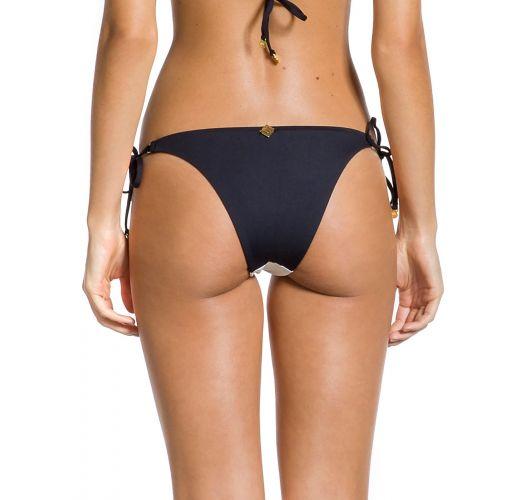 Brazilian black and white bikini bottom - BOTTOM DUO PRETO