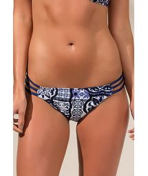 Brazilian strappy bottom navy blue - BOTTOM RIALTO RIVIERA