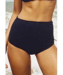 Black retro high waist bikini bottom - CALCINHA CANNES