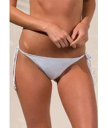 White scrunch side-tie bikini bottom - CALCINHA GOLD BRANCO