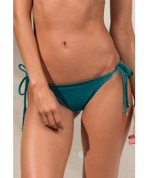 Dark green side-tied scrunch bikini bottom - CALCINHA GOLD GREENLIKE