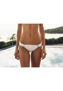 Customised cream bathing tanga which can be fastened - CALCINHA ILHAS CANARIAS