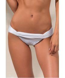 White bikini bottom with pleated waist band - CALCINHA LOLITA BRANCO