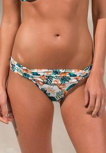 Braguita brasileña, estampado floral, cintura plisada - CALCINHA LOLITA WILD FLOWER