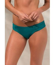 Brazilian bikini bottom with pleated sides - CALCINHA LOREN GREENLIKE