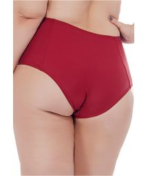 High waisted, dark red bottom, large sizes - CALCINHA PIMENTINHA