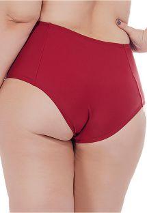 Braguita de bikini talle alto rojo oscuro para talla grande - CALCINHA PIMENTINHA
