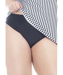 Plus-size black bikini bottom - CALCINHA SOL E LUA