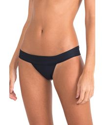 Luxury black bikini bottoms fixed - CALCINHA BICOLOR EYELET BLACK-OFF WHITE