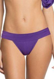 Purple bikini bottom - runway model - BOTTOM DRAPED SLEEVE AMETHYST