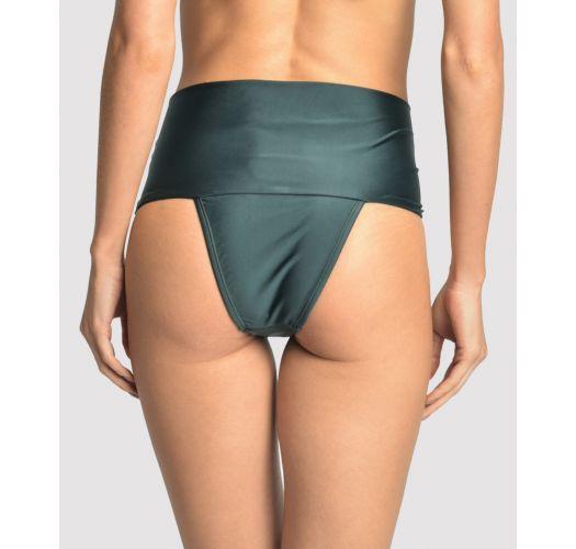 Dunkelgrüne hochtaillierte Luxus-Bikinihose - BOTTOM EMBELLISHED HI RISE ATLANTIC