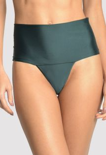 Dark green high waisted bikini bottom - BOTTOM EMBELLISHED HI RISE ATLANTIC