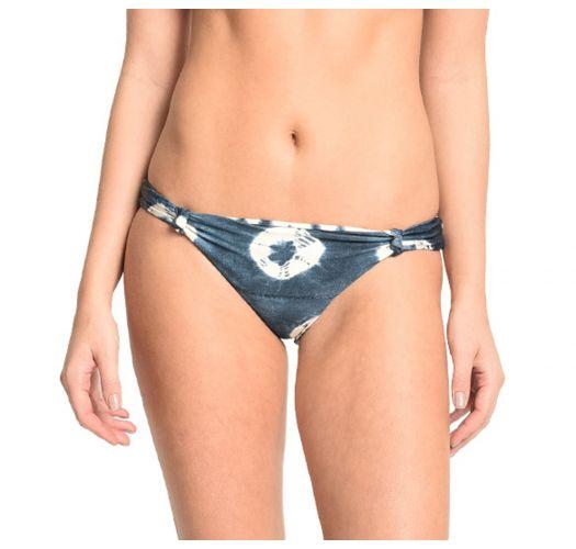 Luxury blue print reversible bikini bottoms - BOTTOM PETALAS BRANCAS
